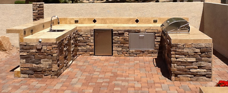 Arizona BBQ island - complete your outdoor kitchen