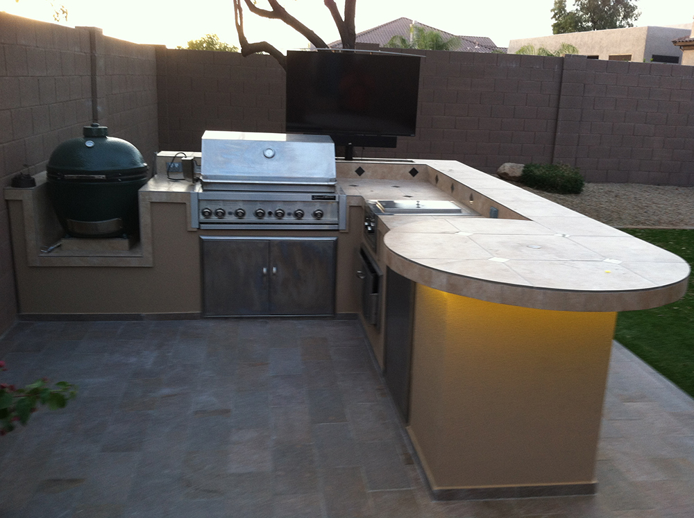 Outdoor kitchen island corona bbq island extreme backyard for Barbecue islands for sale